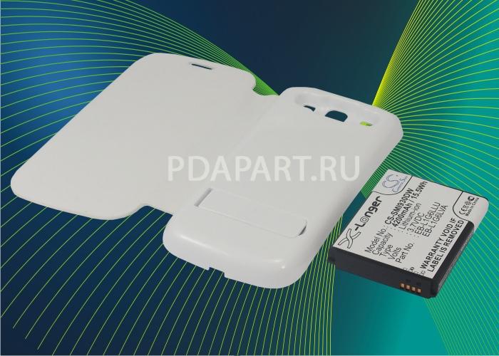 Аккумулятор для Samsung Galaxy S3 i9300 4200mah чехол книжка белый CameronSino
