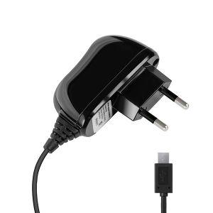 Зарядка с кабелем microUSB 2.1A Deppa черная