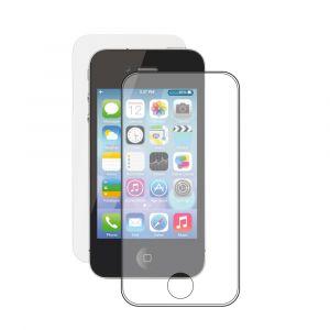 Защитное стекло Apple iPhone 4/4S + пленка, 0.3 мм, прозрачное, Deppa