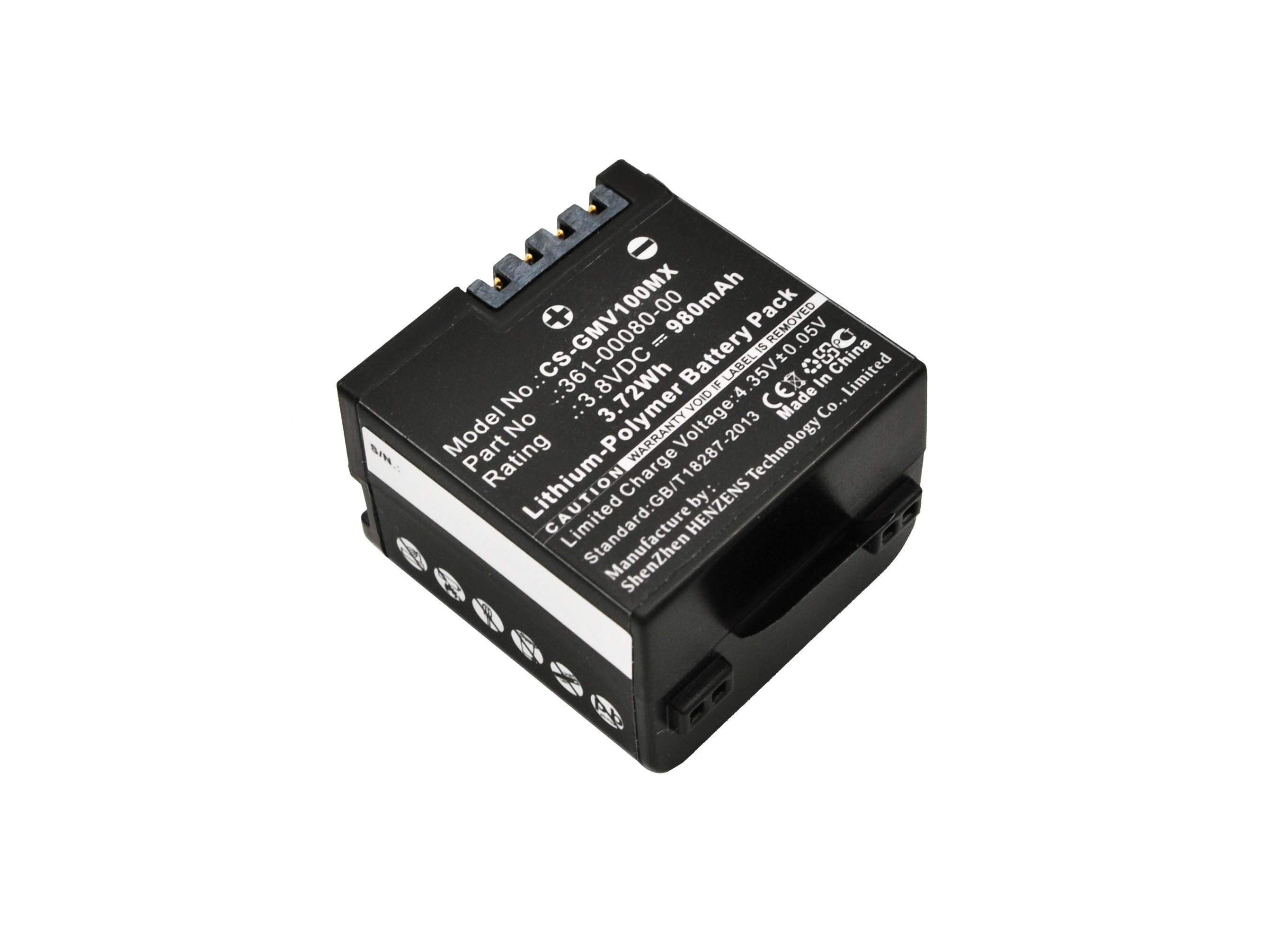 Аккумулятор для Garmin VIRB X, VIRB XE 980mah CameronSino