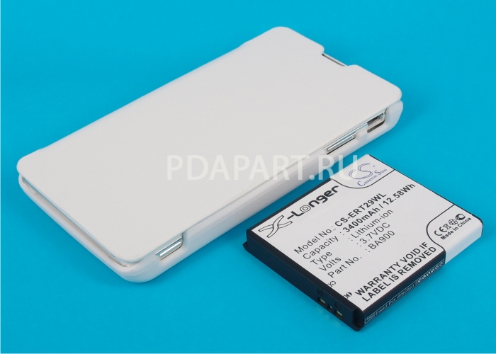 Аккумулятор для Sony Xperia TX 3400mah с чехлом книжкой белый CameronSino