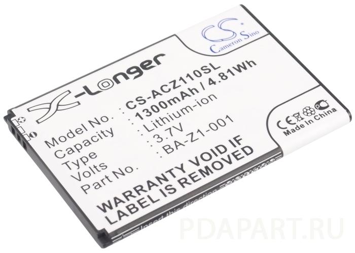 Аккумулятор для Acer Liquid Z110, Z120, Z2 1300mah CameronSino