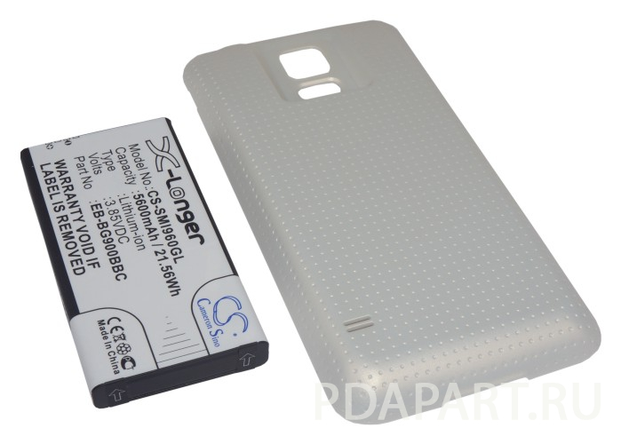 Аккумулятор для Samsung Galaxy S5 SM-G900 5600mah золотой CameronSino