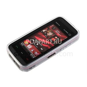чехол защитный Nokia 5530 Circle Patterned Soft Plastic Case черный