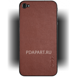 чехол Защитный ZAGG LeatherSkins Apple iPhone 4 Tan Plain