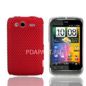 чехол Защитный HTC Wildfire S Perforated красный
