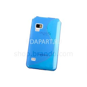 чехол Samsung Galaxy S WiFi 5.0 (YP-G70) Wave Plastic Back Case синий
