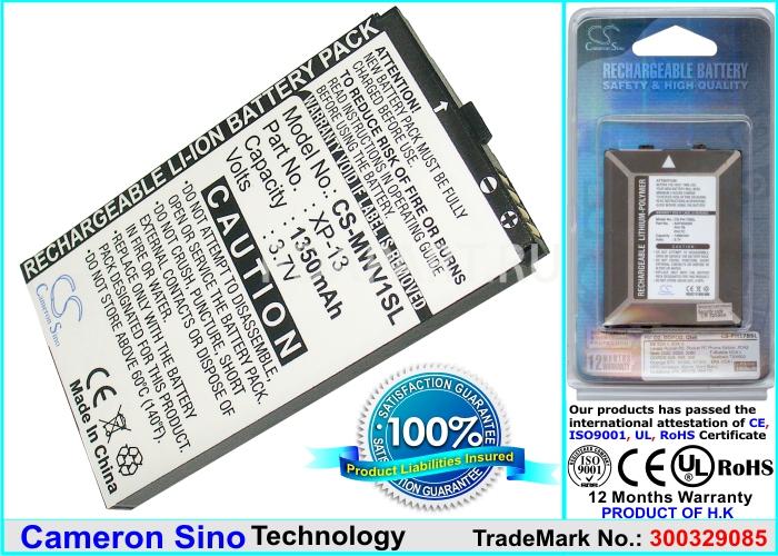 Аккумулятор для Gigabyte Gsmart MW700, MS800 1350mah CameronSino