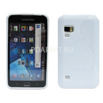 чехол Samsung Galaxy S WiFi 5.0 (YP-G70) Wave Plastic Back Case цвет белый