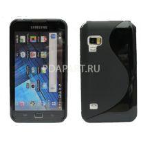 чехол Samsung Galaxy S WiFi 5.0 (YP-G70) Wave Plastic Back Case цвет черный