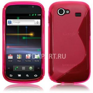 чехол Защитный Samsung Galaxy Nexus i9250 Wave Plastic Back Case розовый