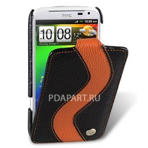 чехол HTC Sensation XL / Runnymede / G14 - Jacka Type Special Edition черный с оранжевой полосой