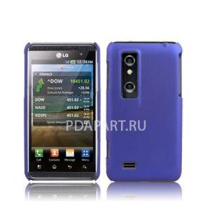 чехол LG P920 TPU Soft plastic синий