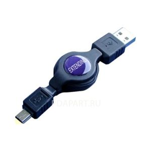 кабель рулетка miniUSB