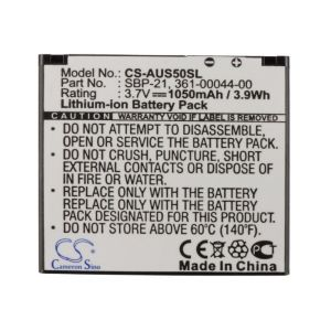 Аккумулятор CameronSino для Garmin Asus A50 1050mah