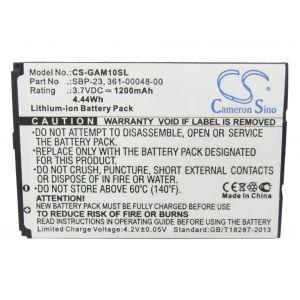 Аккумулятор CameronSino для Garmin-Asus A10, M10 1200mah CS