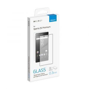 Защитное стекло Sony Xperia Z5 + пленка на заднюю часть, 0.3 мм, прозрачное, Deppa