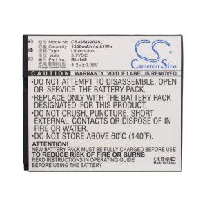 Аккумулятор CameronSino для Gigabyte Gsmart GS202 1300mah CS