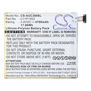 Аккумулятор CameronSino для Asus Zenpad 10 Z300C 4700mah