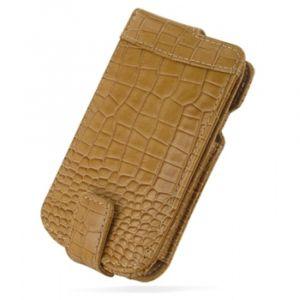 Чехол Samsung i9000 / i9001 Galaxy S Flip Top коричневый крокодил