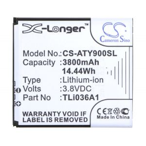 Аккумулятор CameronSino для Alcatel One Touch Link Y900NB 3800mah