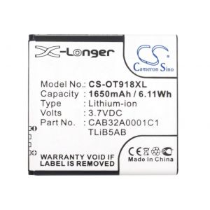 Аккумулятор CameronSino для Alcatel OneTouch 991, 992, 6010D 1650mah