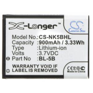 Аккумулятор CameronSino для Nokia BL-5B, Vertu BL-5V 900mah