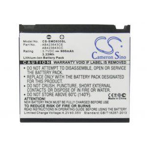 Аккумулятор CameronSino для Samsung AB394235CE, AB423643CE 900mah