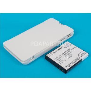 Аккумулятор CameronSino для Sony Xperia TX 3400mah с чехлом книжкой белый
