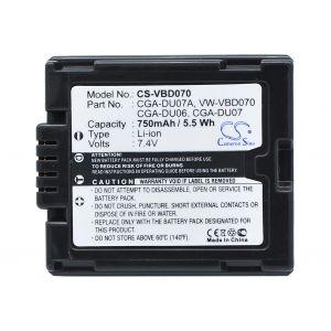 Аккумулятор CameronSino для Panasonic CGA-DU06, CGA-DU07, CGR-DU06 750mah