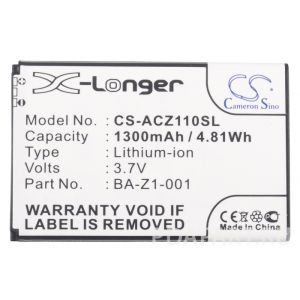 Аккумулятор CameronSino для Acer Liquid Z110, Z120, Z2 1300mah