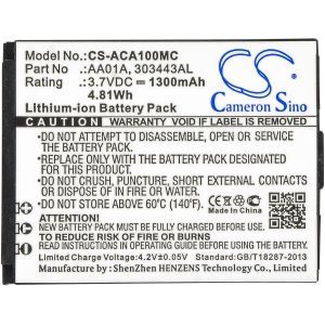 Аккумулятор CameronSino для ACTIVEON CX, DX, LX 1300mAh