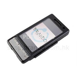 Чехол металлический Brando для HTC Touch Diamond 2 черный (со стеклом)