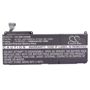 "Аккумулятор CameronSino для Apple MacBook 13"" A1331, A1342 5400mAh"