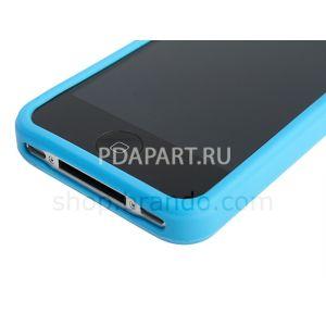 Чехол защитный Bumper для Apple Iphone 4 белый Brando