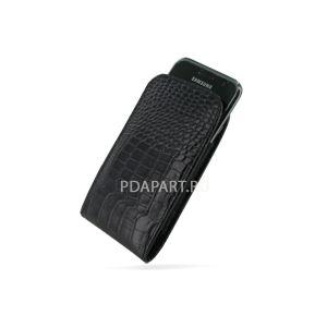 Чехол Samsung i9000 / i9001 Galaxy S кобура с клипсой черный/крокодил