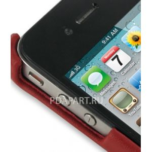 Чехол PDair для Apple iPhone 4 задняя крышка красный