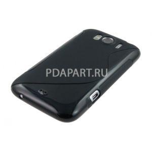 Чехол HTC Sensation XL Wave Plastic черный