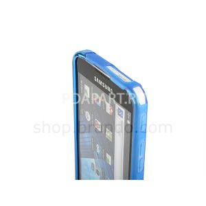 Чехол Samsung Galaxy S WiFi 5.0 (YP-G70) Wave Plastic Back Case синий