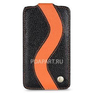 Чехол HTC Sensation XL - Special Edition черный с оранжевым