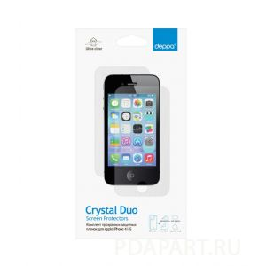 Защитная пленка Apple iPhone 4, 4S - Deppa глянец - лицевая и задняя