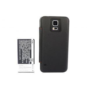 Аккумулятор CameronSino для Samsung Galaxy S5 SM-G900 (EB-B900BC) 5600mah чехол книжка черный