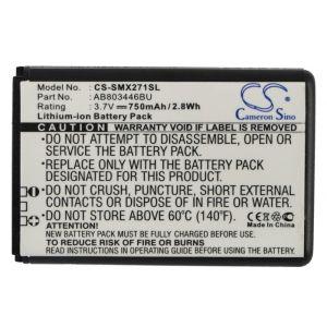 Аккумулятор CameronSino для Samsung xCover 271 (AB803446BU) 750mah